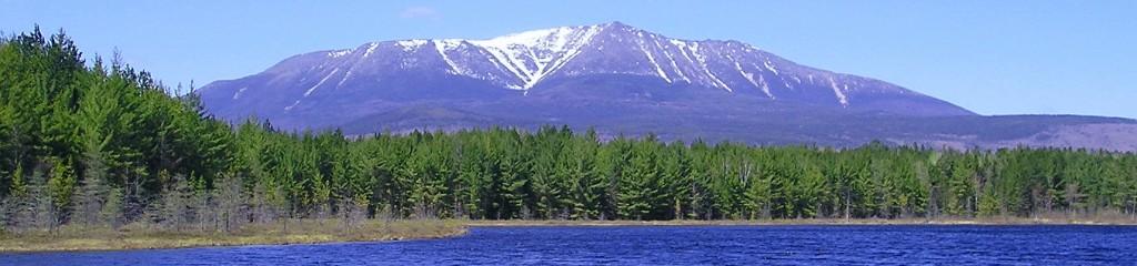 Mount Katahdin in Maine's Baxter State Park.