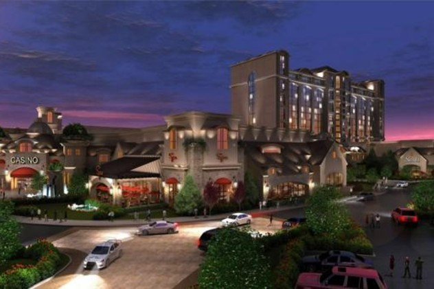 An artist's rendition of the casino proposed for Milford, MA.
