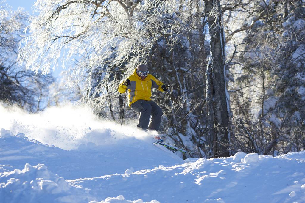 A skier at Vermont's Mount Snow. (Mount Snow Photo)