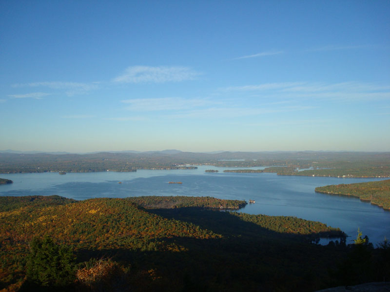 View of Lake Winnipesaukee from the summit of Mount Major.