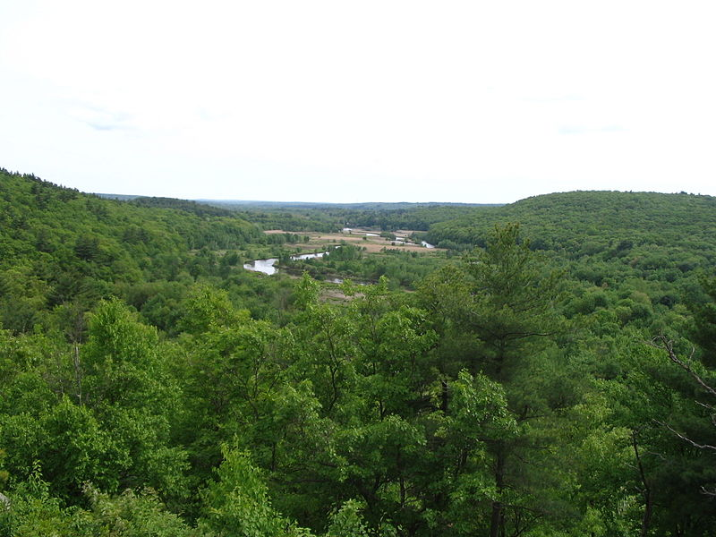 Blackstone Valley from King Phillip's Rock near Uxbridge, MA.