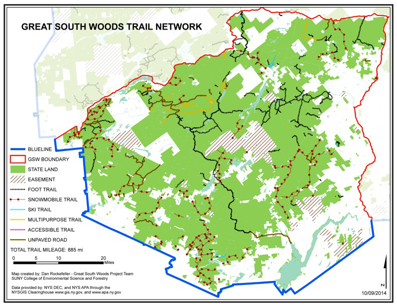 Great South Woods Map