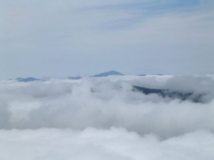 Cloud cover in the Presidential Range.