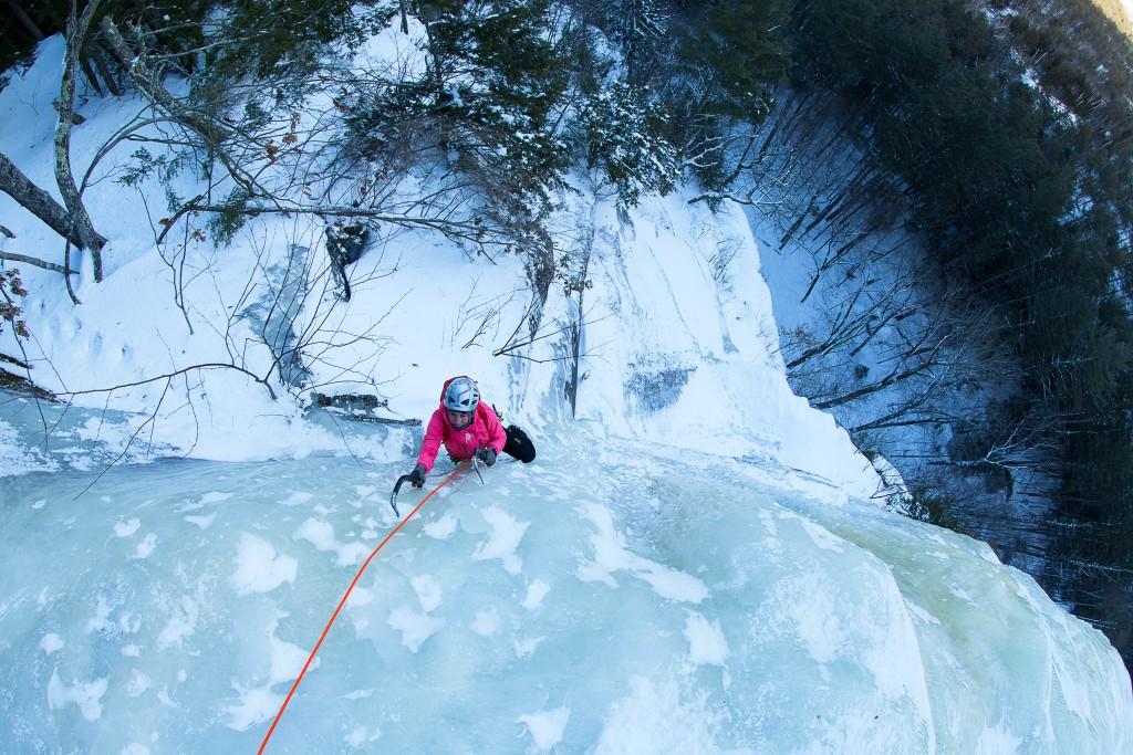 ice climbing - woman