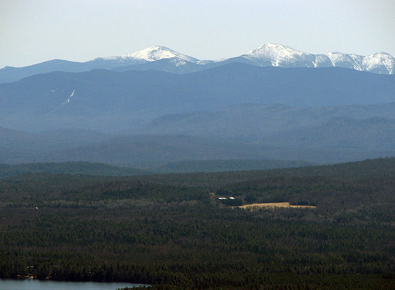 The Adirondack High Peaks seen from St. Regis Mountain. (Wikimedia Photo)