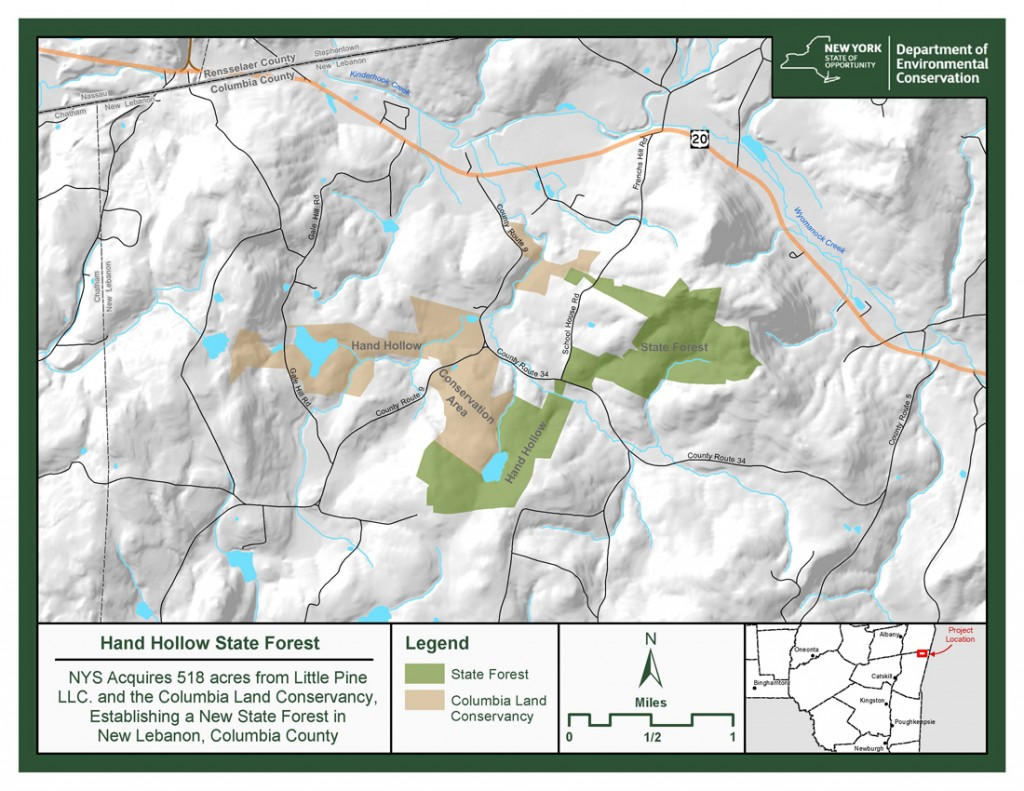 Hand Hollow State Forest Map