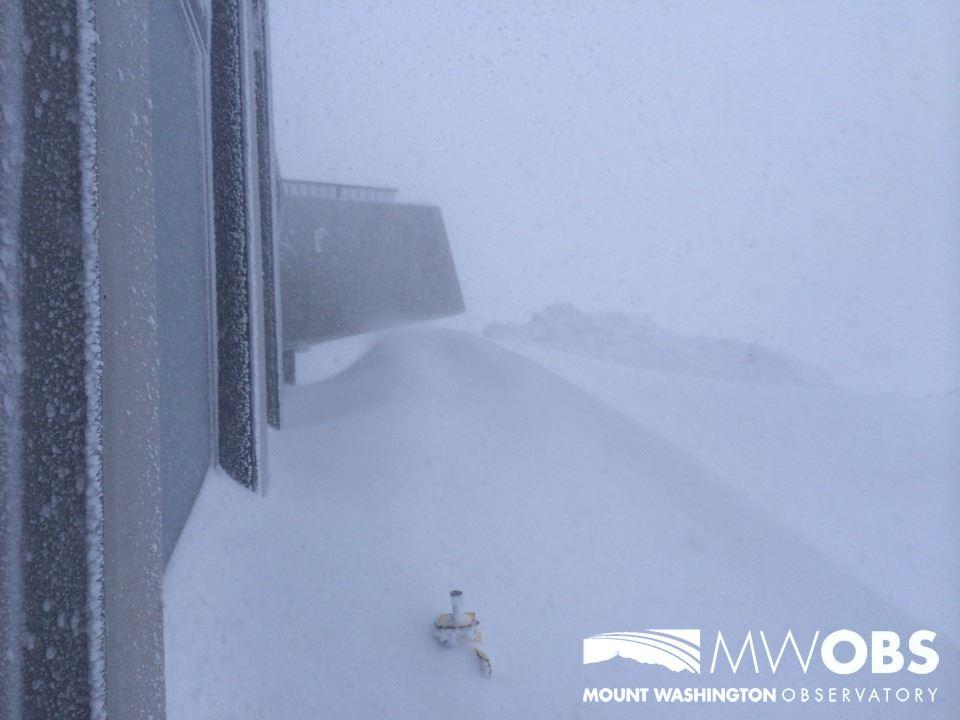 New snow atop Mount Washington. (Photo: Mount Washington Observatory/Facebook)
