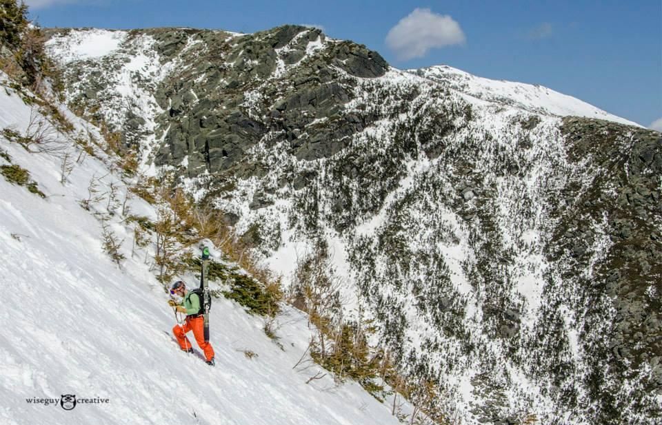 A 2014 Inferno competitor climbs Tuckerman Ravine. (Photo: Friends of Tuckerman Ravine/Wiseguy Creative)