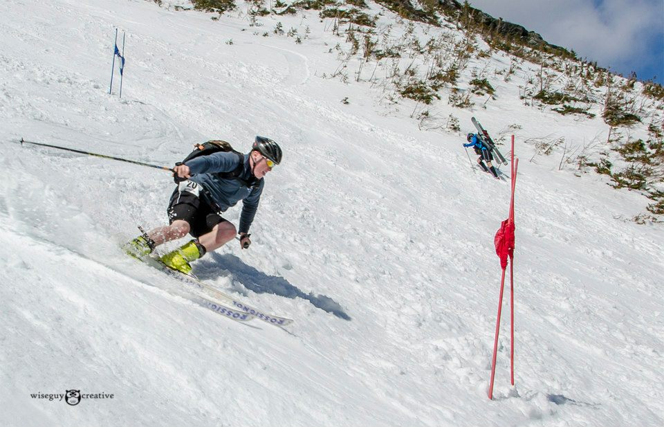 A skier races down Tuckerman Ravine during the 2014 Inferno. (Photo: Friends of Tuckerman Ravine/Wiseguy Creative)