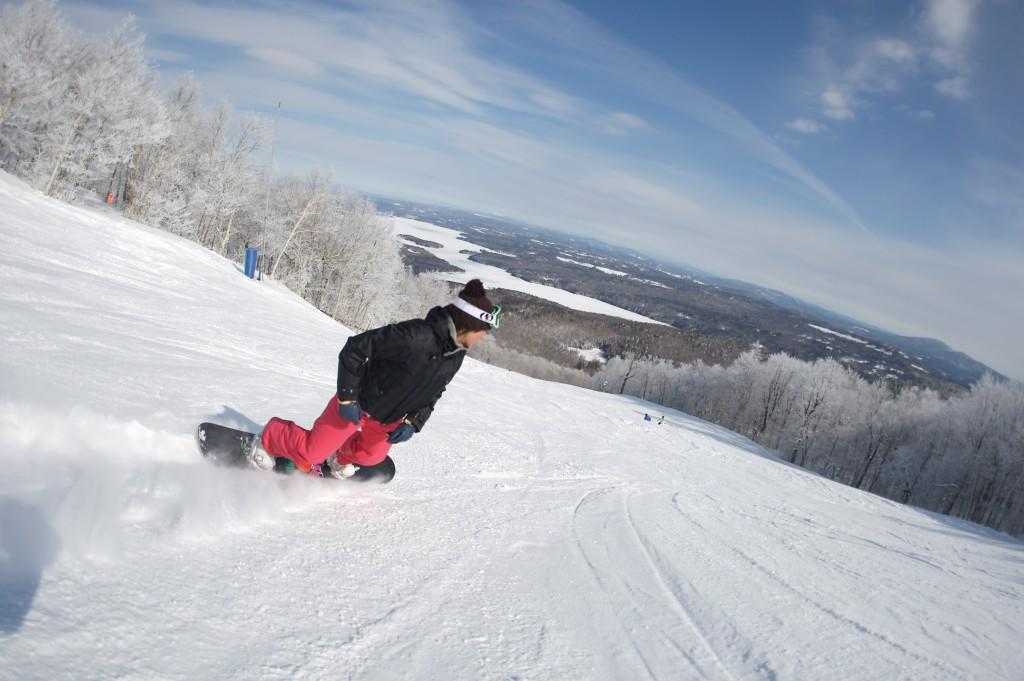 A snowboarder at Mount Sunapee. (Mount Sunapee Photo)