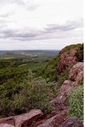 Cliffs on Mount Higby.