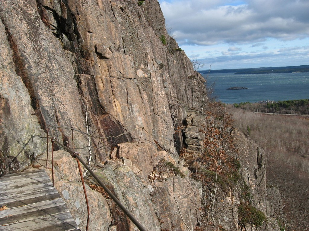 The Precipice Trail in Acadia National Park. (Wikimedia Photo)