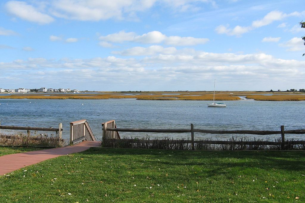 The Bass River in South Yarmouth. (Wikimedia Photo)