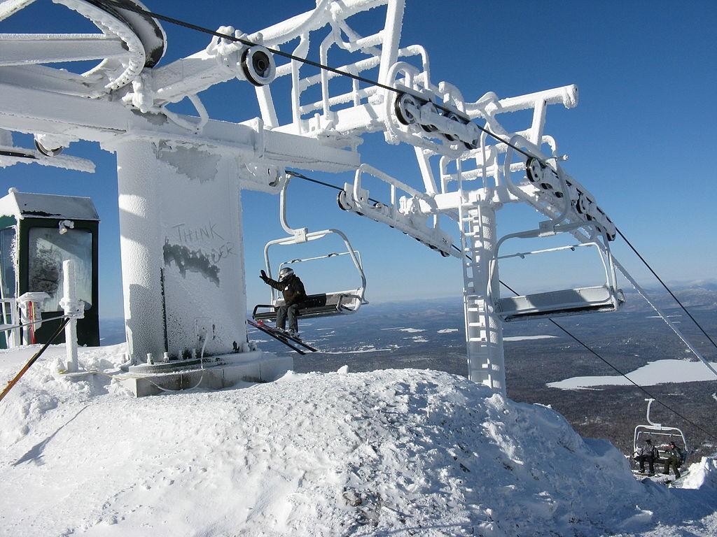 Maine's Saddleback Mountain Ski Area. (Wikimedia Photo)