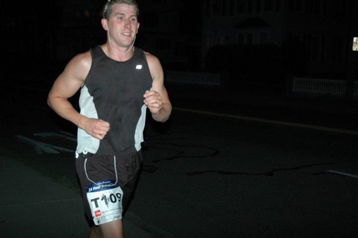 A competitor in the Ultra Around the Lake competes overnight. (Ultra Around the Lake Facebook Photo)