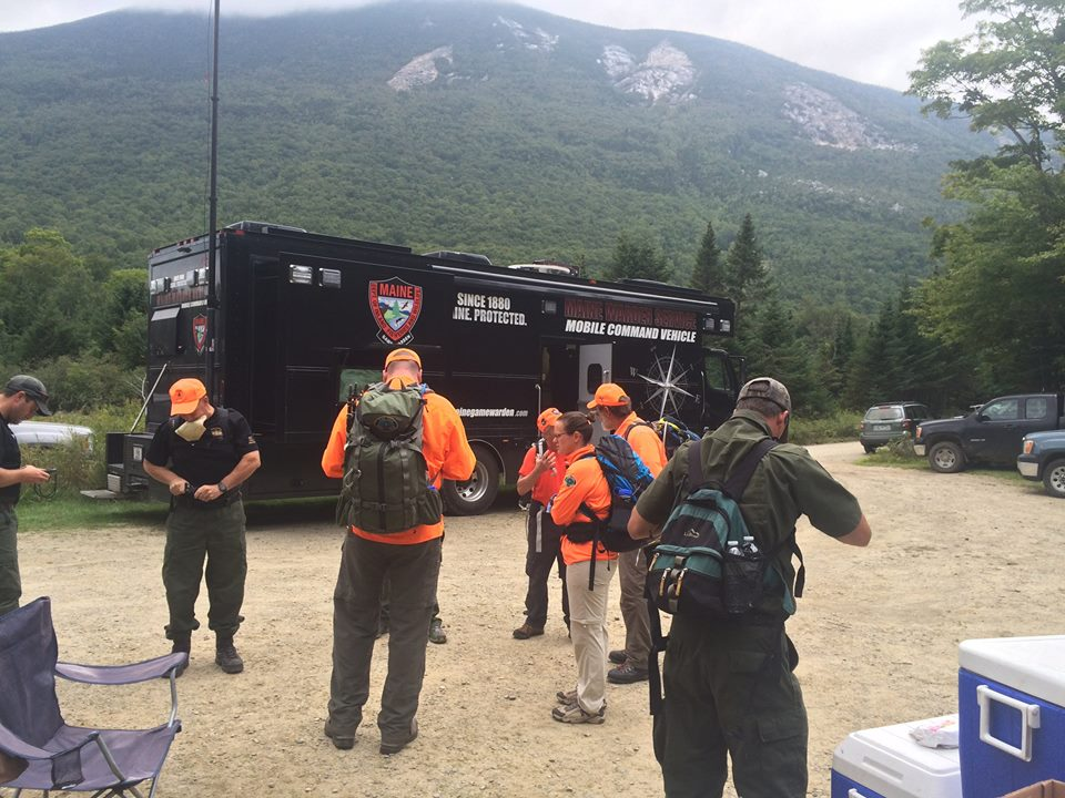 Search and rescue crews prepare to search for a lost hiker near Maine's Mount Coe. (Baxter State Park/Facebook Photo)