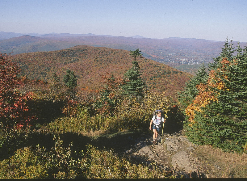 A hiker along the Appalachian Trail in western Massachusetts. (Mass.gov Photo)
