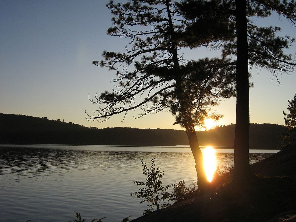 Sunset in Algonquin Park.