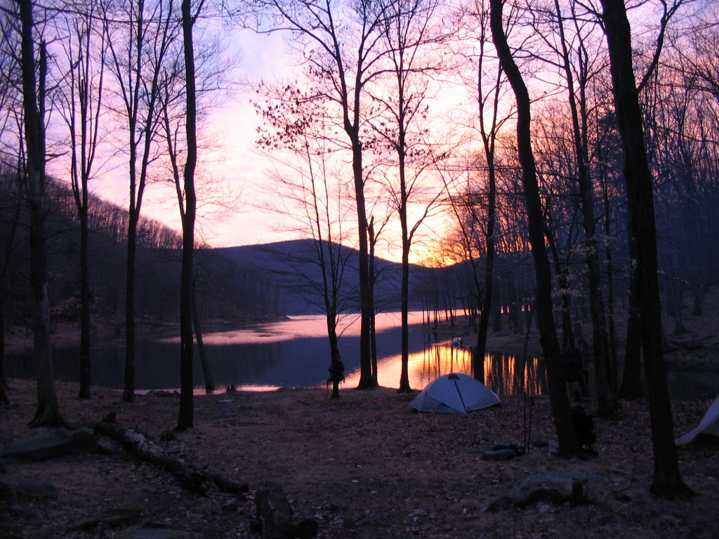 A campsite in the Allegheny National Forest. (NorthCountryTrail.org Photo)
