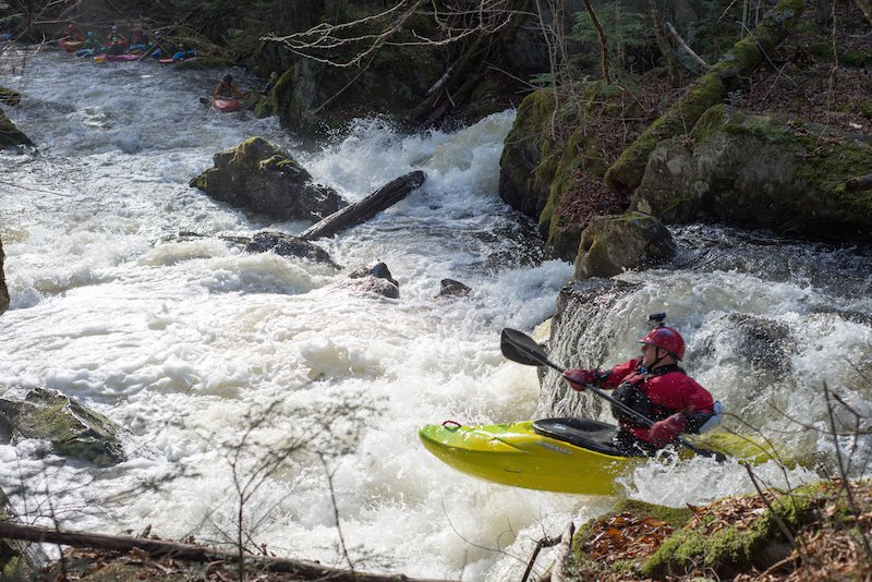 A kayaker on Vermont's Green River. (American Whitewater Photo)