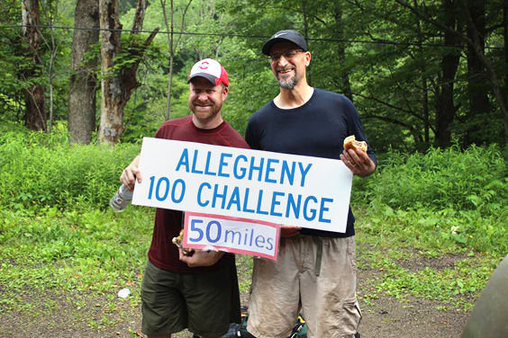 Participants in the A-100 Challenge. (NorthCountryTrail.org Photo)