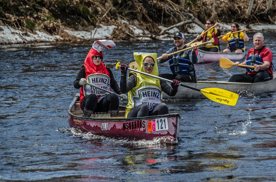 Condiments, er, contestants in Massachusetts' River Rat Race. (River Rat Race Facebook Photo)