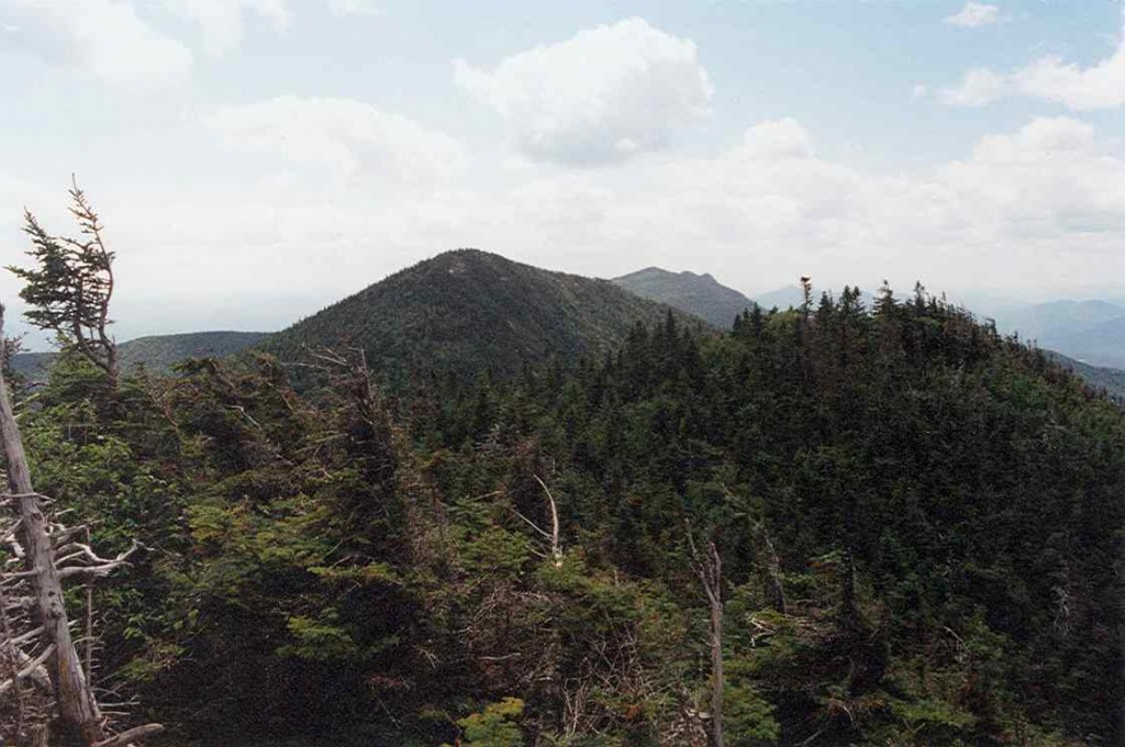 Hough Peak and Macomb Mountain seen from the ridge to Dix. (Wikimedia Photo)