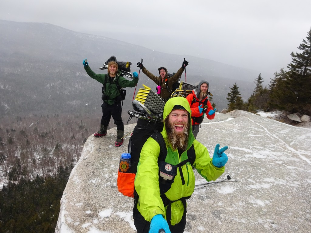 The hikers on Rogers Ledge in Kilkenny Township, New Hampshire. (Ian Hart Photo)