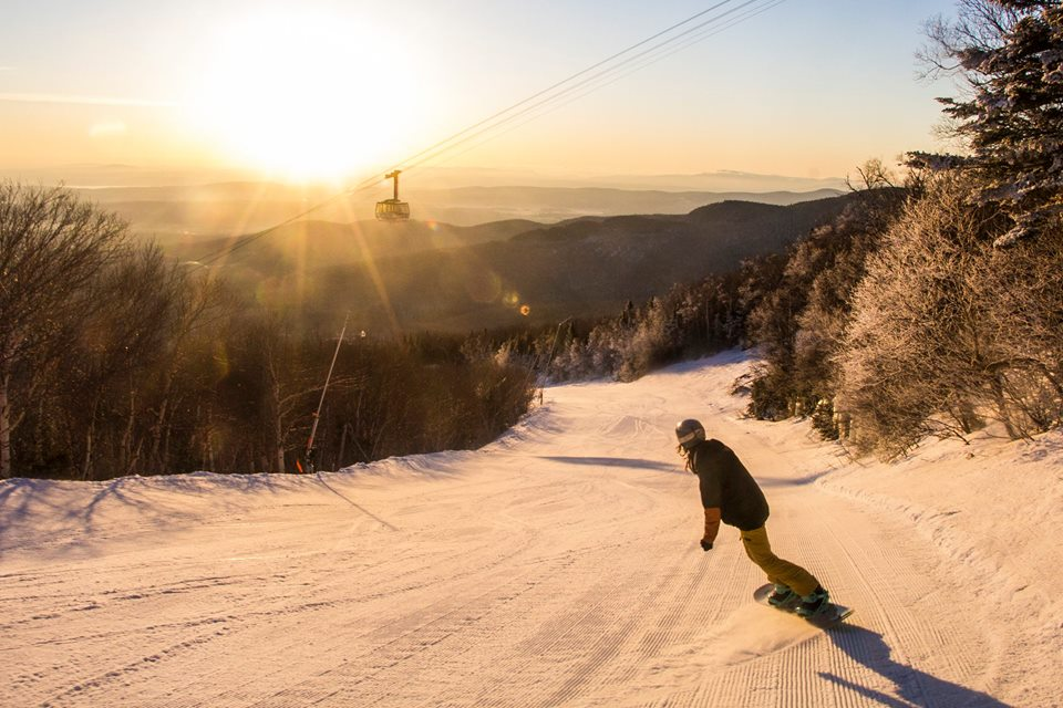 A snowboarder at Jay Peak Resort. (Jay Peak Resort Facebook Photo)