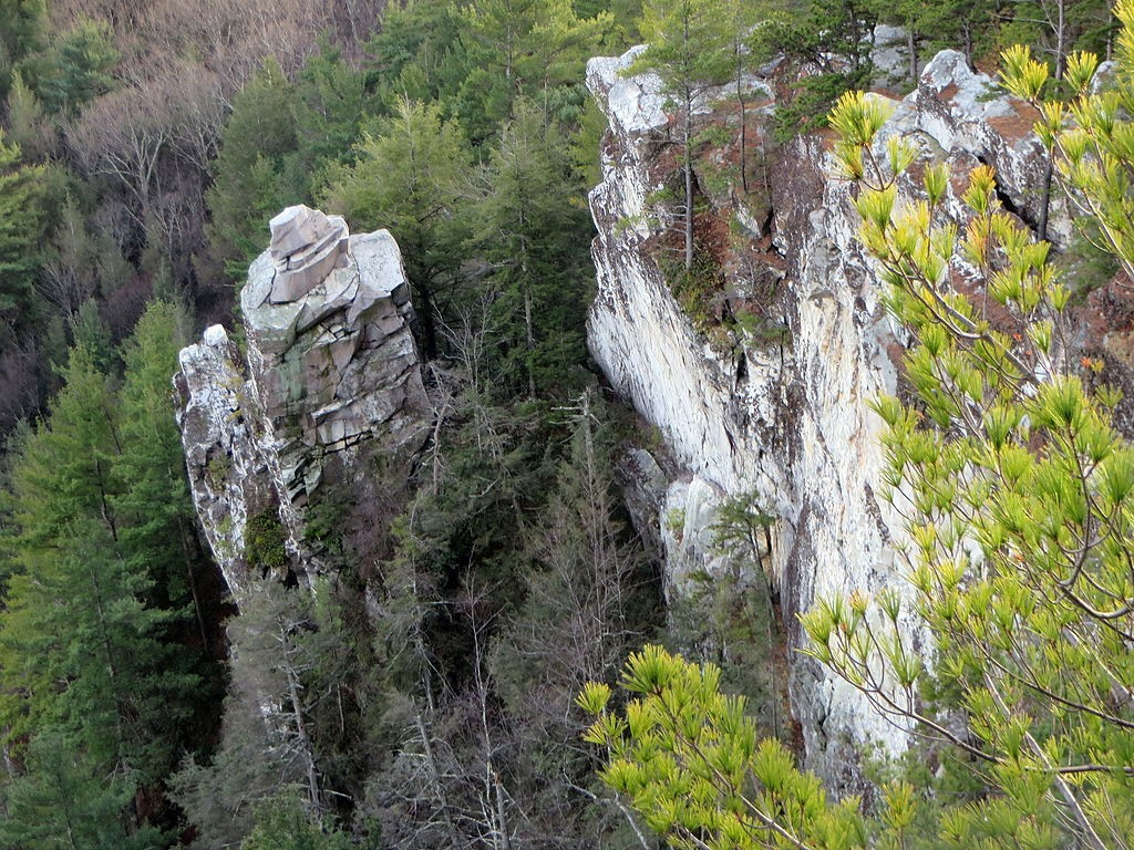 An area known as Devil's Pulpit on Monument Mountain in Great Barrington, Massachusetts. (Wikimedia Photo)