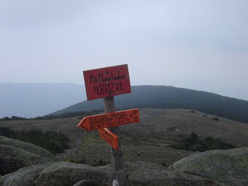 The summit of New Hampshire's Mount Moosilauke. (BU Outing Club/Flickr Photo)