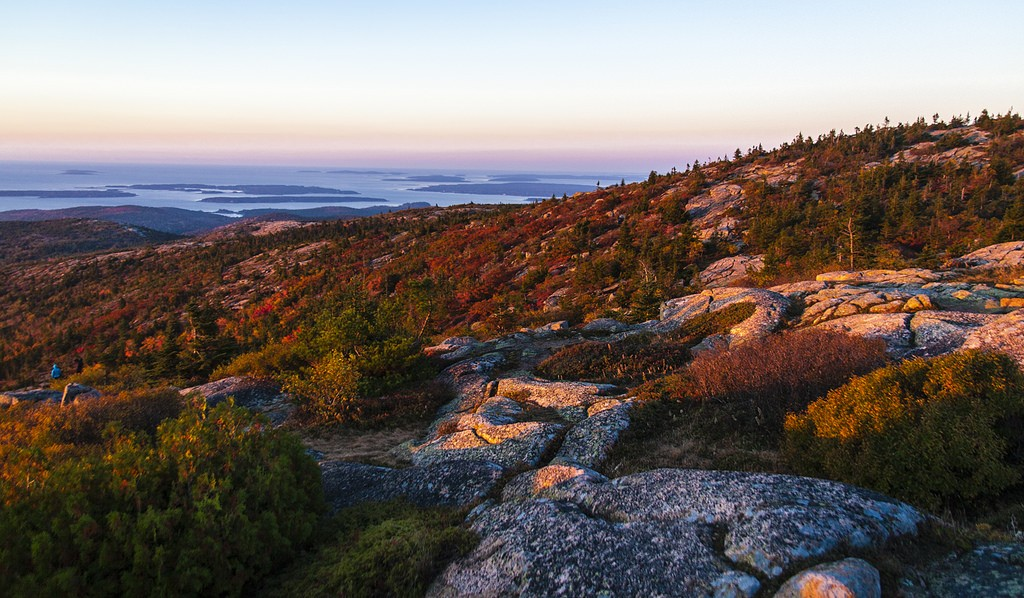 Sunrise on Cadillac Mountain in Acadia National Park. (Paul VanDerWerf/Flickr Photo)
