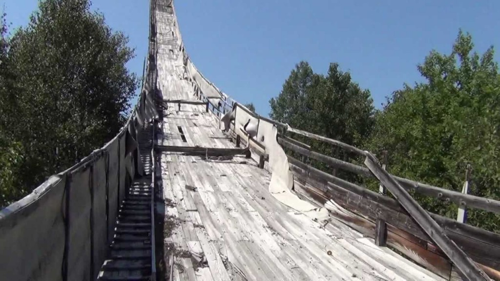 The Nansen Ski Jump in Milan, New Hampshire. (WeRmudfun/YouTube Photo)