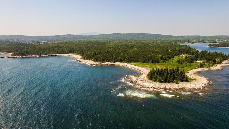 An aerial view of Ocean Woods Campground in Gouldsboro, Maine. (Tranzon Auction Properties Photo)