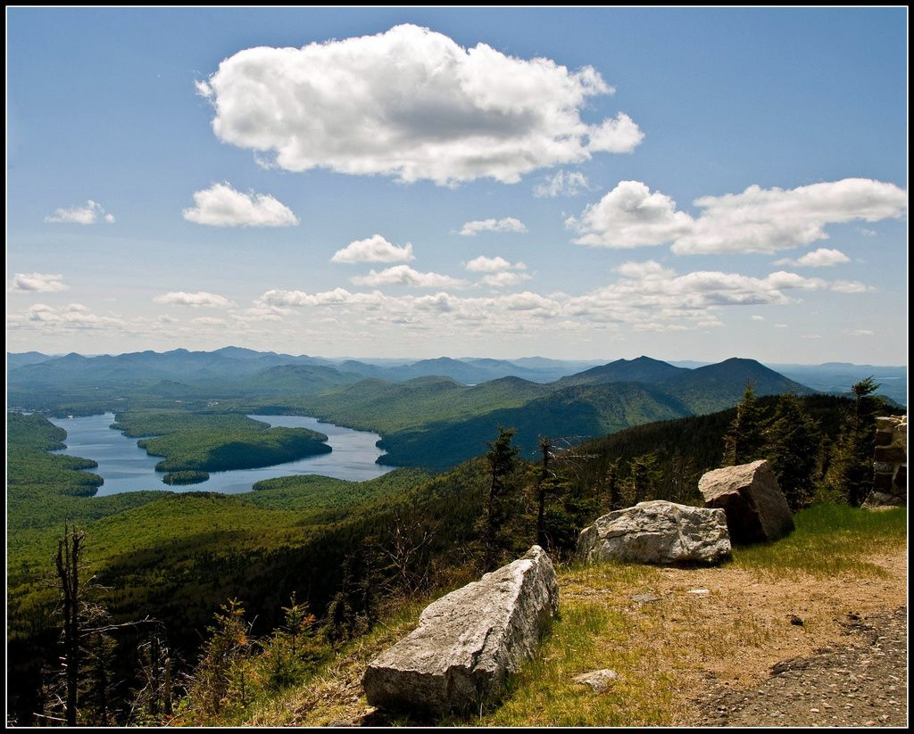 A view of Lake Placid from the top of Whiteface Mountain in the Adirondack High Peaks. (Tony Fischer/Flickr Photo)