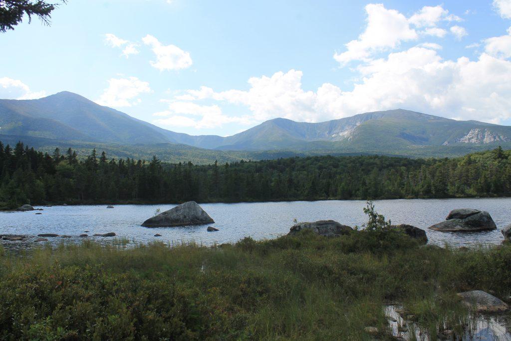 View of Katahdin from Sandy Stream Pond. (Dan Mathers/Northeast Explorer Photo)