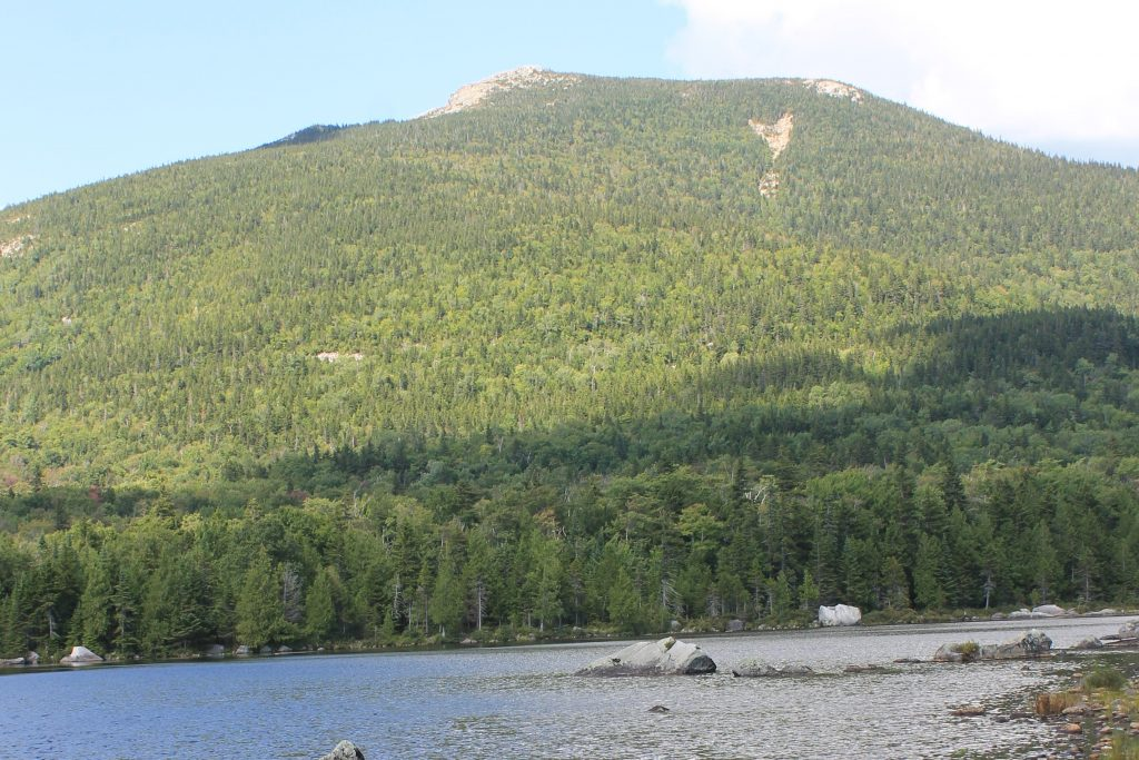 A view of South Turner Mountain from Sandy Stream Pond in Maine's Baxter State Park. (Dan Mathers/Northeast Explorer Photo)